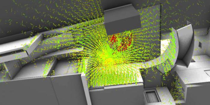 Фото: Эскиз излучаемых поверхностей в библиотеке Льюиса Принстонского университета. Dorit Aviv