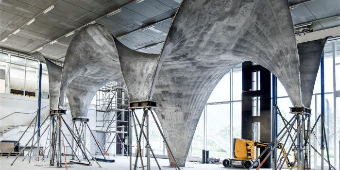 Ультратонкая бетонная крыша в энергоэффективном дизайне