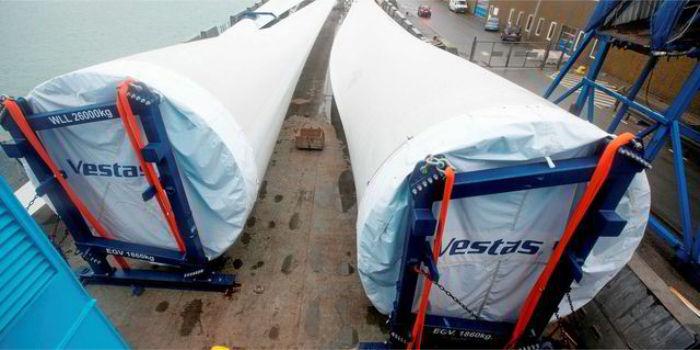Экспорт первых лопастей ветротурбин из России в Данию