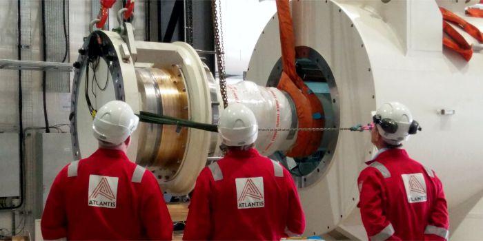 Установка приливной турбины промышленного масштаба