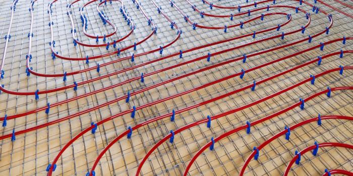 Система отопления теплый пол, расположение трубопроводов
