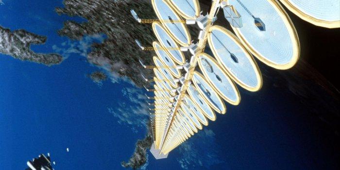 Сбор солнечной энергии в космосе для потребителей на Земле