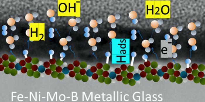 Металлическое стекло Fe-Ni-Mo-B, графическая абстракция. Предоставлено: пресс-служба ДВФУ