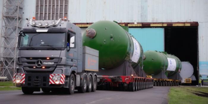 Парогенераторы и корпус атомного реактора начинают путь из России в Бангладеш. Изображение: Росатом