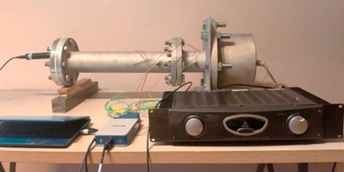 Фото экспериментального термоакустического устройства, работающего на частоте 300 Гц. MDPI. Energies