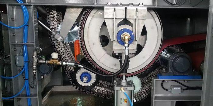 Машина для электроосмотического обезвоживание илового осадка сточных вод. BLUEWIN
