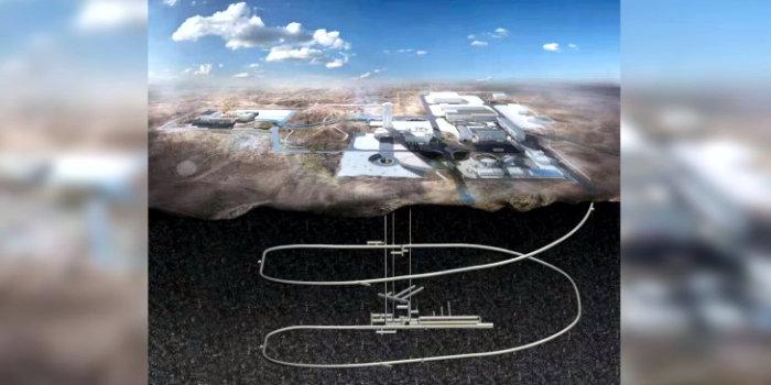 Лаборатория «Бэйшань» будет состоять из спиральной рампы, трех вертикальных шахт и горизонтальных галерей с захороненными отходами (Изображение: CAEA)