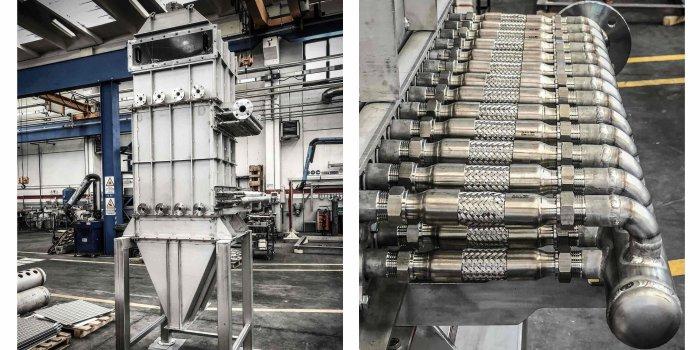 Вертикальный пластинчатый теплообменник для сыпучих материалов | FIC S.p.A.