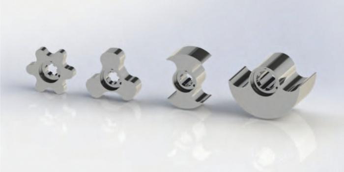Типы кулачков роторно-поршневых насосов (справа налево): одинарное крыло, двойное, тройное, многокрыльевой | TEHNO GROUP