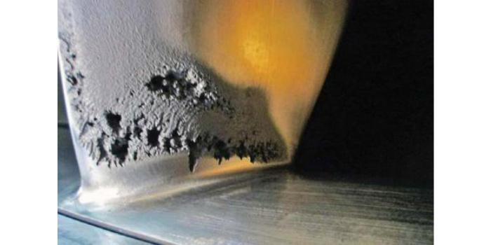Кавитационное повреждение рабочего колеса лопасти турбины JR Carr Unit 2. Фото предоставлено: John Germann | U.S. Bureau of Reclamation