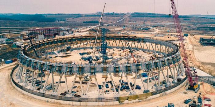 Самая высокая градирня в России на следующем этапе строительства
