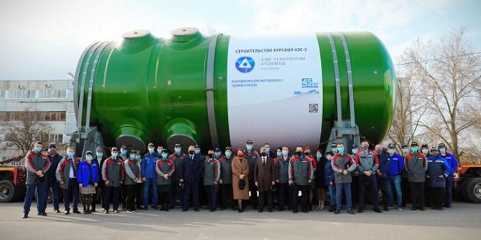 Первая отгрузка корпуса реактора ВВЭР-ТОИ для Курской АЭС-2